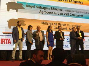 La granja Jesús González Sahagún, de l'empresa Agrocesa – Grup Vall Companys, va rebre el Porc d'Or Ibèric especial amb Diamant.